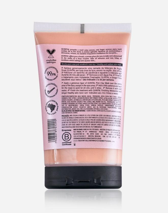 QUINTAL MASCARA DE ARGILA ROSA ULTRASSENSIVEL 140G