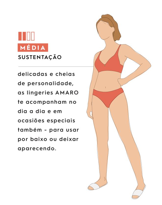 SUTIÃ MEIA-TAÇA RENDA SOBREPOSTA